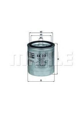 Фильтр топливный Mahle MAHLEORIGINAL KC22