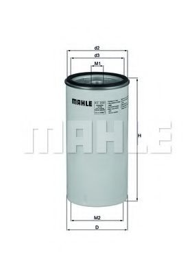 Фильтр топливный Mahle MAHLEORIGINAL KC200