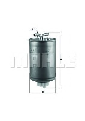 Фильтр топливный Mahle  арт. KL41