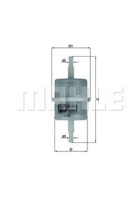 Топливный фильтр  арт. KL63OF