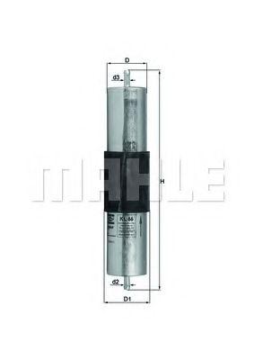 Фильтр топливный Mahle  арт. KL66