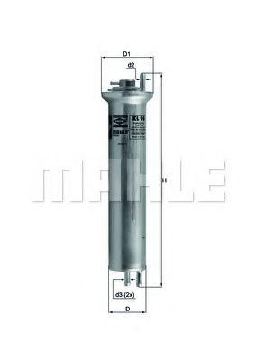 Фильтр топливный Mahle MAHLEORIGINAL KL96