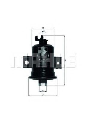 Фильтр топливный Mahle MAHLEORIGINAL KL143