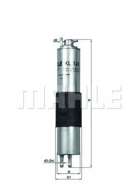 Фильтр топливный Mahle  арт. KL149