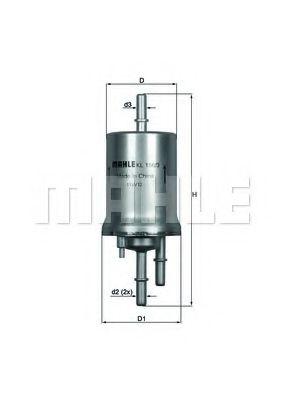 Фильтр топливный Mahle MAHLEORIGINAL KL1563