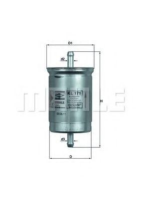 Фильтр топливный Mahle  арт. KL171