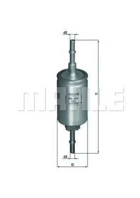 Фильтр топливный Mahle  арт. KL458
