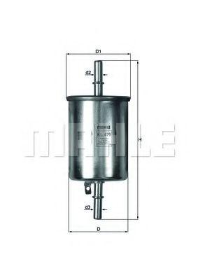Фильтр топливный Mahle Aveo  арт. KL470