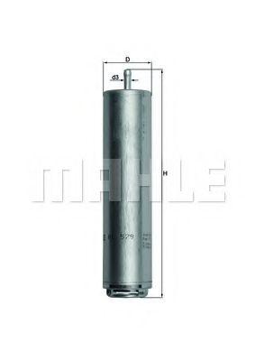 Фильтр топливный  арт. KL579D