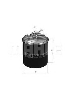 Фильтр топливный Mahle MAHLEORIGINAL KL723D