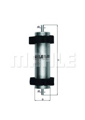Фильтр топливный MAHLEORIGINAL KL660
