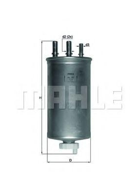 Фильтр топливный MAHLEORIGINAL KL781