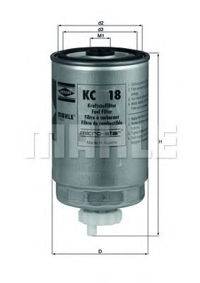 Фильтр топливный Mahle  арт. KC18