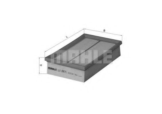 Воздушный фильтр  арт. LX2671