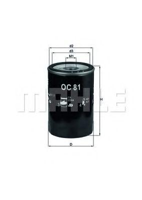 Масляный фильтр  арт. OC81