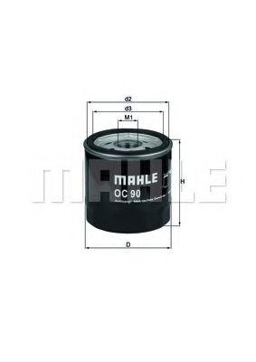 Фильтр масляный Mahle Lanos/Aveo  арт. OC90OF