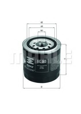 Фильтр масляный Lada 2101-07 Mahle  арт. OC383