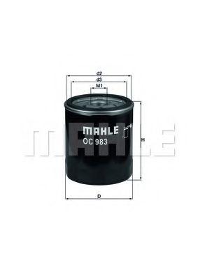 Фильтр масляный Mahle OC66  арт. OC983