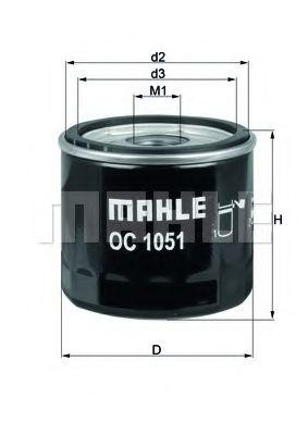 OC1051     (MAHLE)   !!заміна для OC244  арт. OC1051