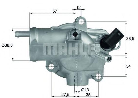 TH1392  Mahle - Термостат MAHLEORIGINAL TH1392