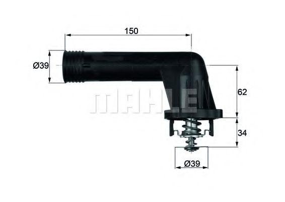 TI2095  Mahle - Термостат MAHLEORIGINAL TI2095