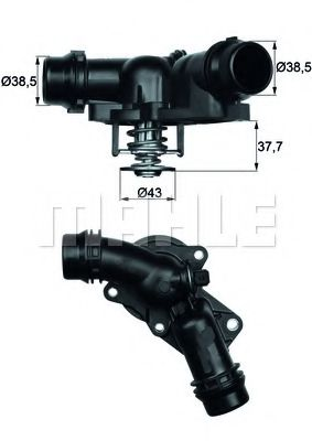 TM1397  Mahle - Термостат MAHLEORIGINAL TM1397