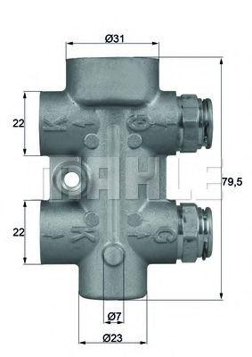 Масляный термостат Термостат MAHLE арт. TO880