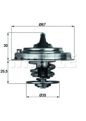 Термостат VW PASSAT 2.4-2.5TDI 06.94-05.05 MAHLEORIGINAL TX3087D