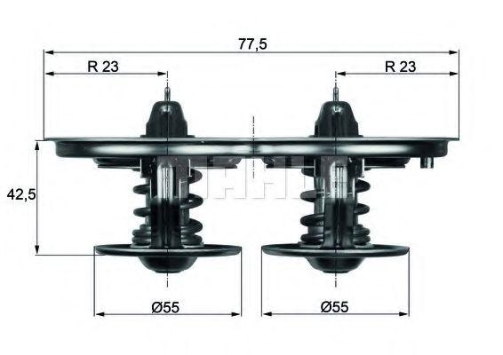 TX3280D  Mahle - Термостат MAHLEORIGINAL TX3280D