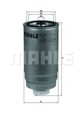 Фильтр топливный Mahle  арт. KC182