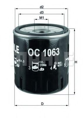 OC466 Фильтр масляный Mahle  арт. OC1063