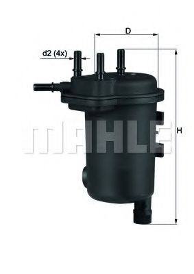 Фильтр топливный MAHLEORIGINAL KL600D