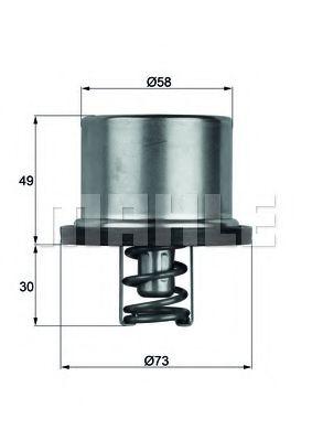 THD182  Mahle - Термостат MAHLEORIGINAL THD182