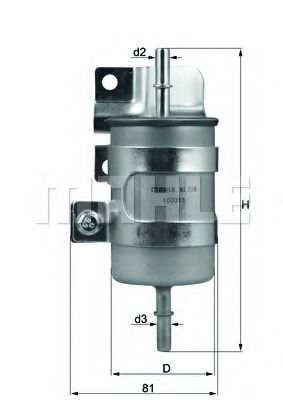 Топливный фильтр  арт. KL598