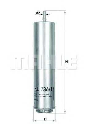 Фильтр топливный Mahle  арт. KL7361D