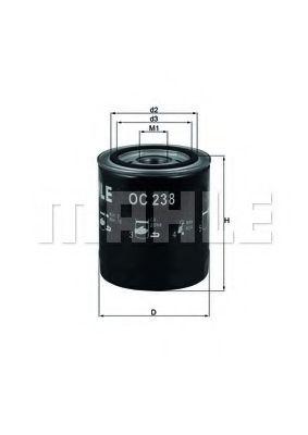 Масляный фильтр  арт. OC238