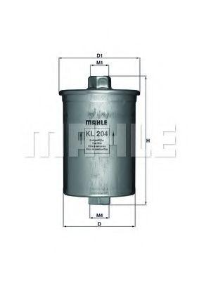 Топливный фильтр  арт. KL204
