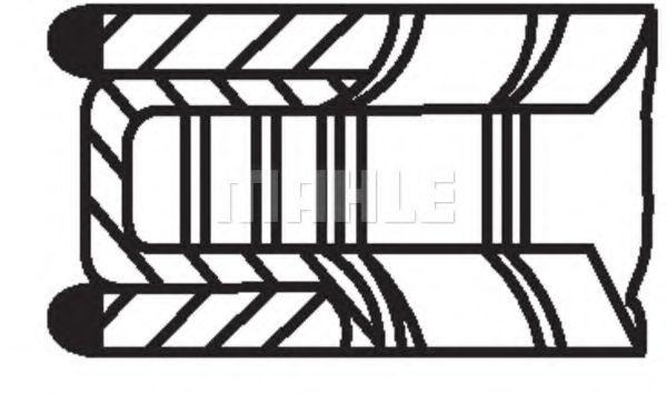 (83.00) Поршневі кільця (1.2*1.5*3) Mazda 626 GE/GF 92- 1.8/2.0 16V MAHLEORIGINAL 62729V0