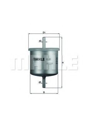 Фильтр топливный Mahle  арт. KL61
