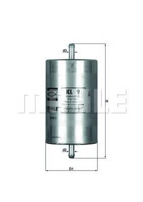Фильтр топливный Mahle  арт. KL9