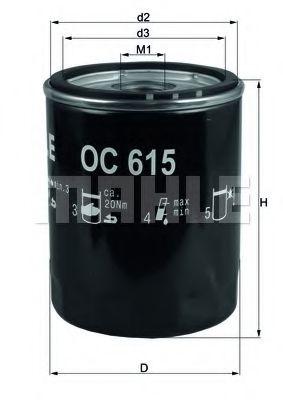 Фільтр масляний  арт. OC615