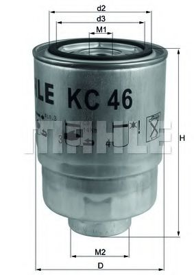 Фильтр топливный Mahle  арт. KC46