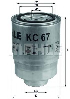 Фильтр топливный Mahle MAHLEORIGINAL KC67