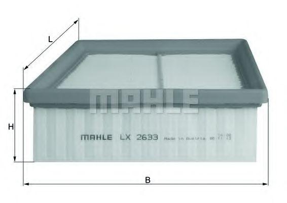 Фильтр воздушный Mahle  арт. LX2633