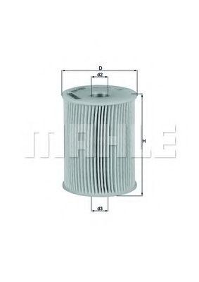 Фильтр топливный MAHLEORIGINAL KX231D