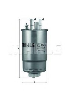Фильтр топливный MAHLEORIGINAL KL566