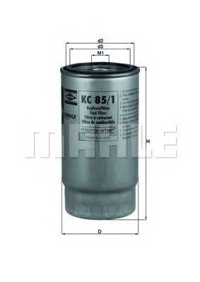 Фильтр топливный MAHLEORIGINAL KC851