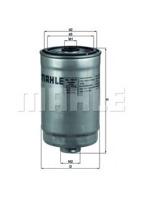 Фильтр топливный Mahle  арт. KC1011