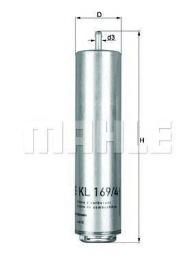 KL169/3D Фильтр топливный Mahle  арт. KL1694D