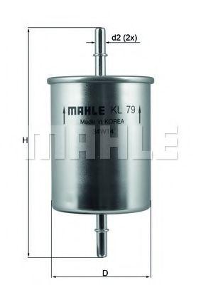 Фильтр топливный  арт. KL79